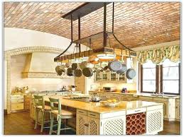 Kitchen Island With Hanging Pot Rack Kitchen Pot Rack Welcome To Inspiration No Hanging Pot Kitchen