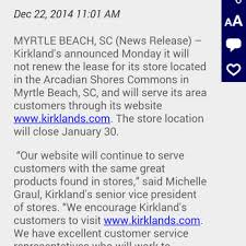 Kirkland Home Decor Locations Kirklands U0027 Home Interior Design 10796 Kings Rd Myrtle Beach