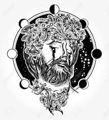 jesus christ tattoo jesus christ portrait in sky tattoo and