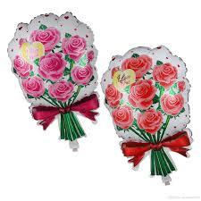 s day roses 2018 flower print foil balloonvalentine s day roses wedding