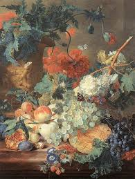 fruit and flowers huysum painting fruit and flowers