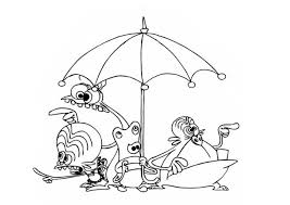 space goofs umbrella coloring pages hellokids