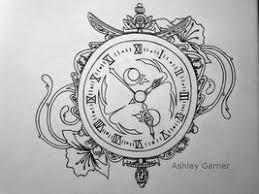 clock tattoo sketch szukaj w google tatuaż pinterest