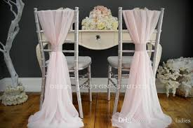 ivory chair ivory chiffon chair sashes wedding party deocrations bridal chair