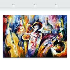wall decor jazz mirror wall decor palette knife painting bottle