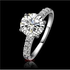 white silver rings images 1ct round brilliant real sonadiamond engagement ring genuine jpg