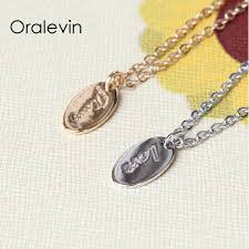 Custom Bar Necklace Aliexpress Com Buy 2017 Engraved Initial Positive Inspirational