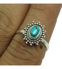 color gemstone rings images 925 sterling silver jewelry handmade silver ring turquoise blue JPG