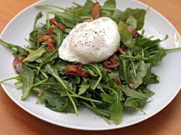 Dinner Egg Recipes Michael Ruhlman U0027s Warm Arugula Salad With Bacon And Poached Eggs