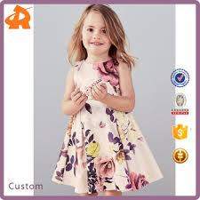 dress pattern 5 year old 2017 wholesale latest 3 5 year old girl dress with floral printed