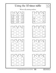 3rd grade 4th grade math worksheets multiplying and dividing by