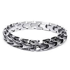 mens bracelet steel images Punk snake shaped 316l stainless steel bracelet mens jewelry at jpg