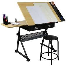 Engineering Drafting Table by Hartleys Drawing Table With 2 Drawers Drafting Bench Artists