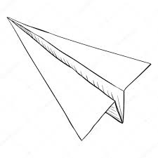 sketch paper plane u2014 stock vector nikiteev 111293640