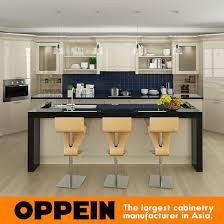 Light Yellow Kitchen Cabinets China Oppein Modern Light Yellow High Gloss Lacquer Kitchen