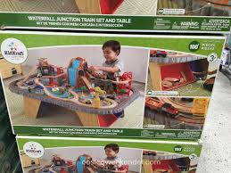 kidkraft waterfall junction train set and table costco weekender
