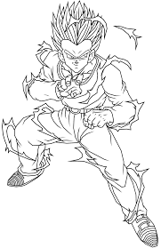 dragon ball z gohan coloring page with coloring pages omeletta me