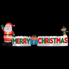 merry christmas sign gemmy 12 ft merry christmas sign 89991 the home depot