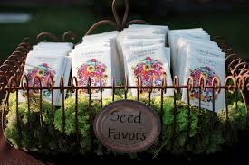 flower seed wedding favors seed packet wedding favors