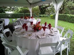linen rental atlanta 66 guest table with white linens white resin chairs and