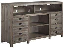 Pine Furniture Stores Rustic Gray Brown Pine Tv Stand With Cup Pulls By Signature Design