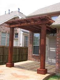 attached cedar pergola via homeandlawntransformers 2 design