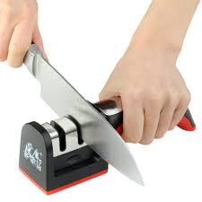 household handle type knife sharpener 2 stages hard carbide
