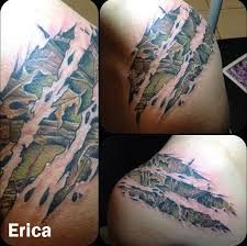 tattoo camo before and after i want something like this but smaller with lyrics in it probably