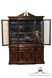 Break Front Cabinet High End Used Furniture American Drew Independence Collection 62