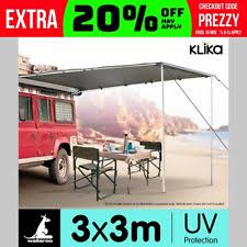 4wd Shade Awning 3x3m Tough Car Side Shade Awning Tent Camping Roof Top 4x4 Pull