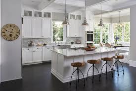 Transitional Pendant Lighting Kitchen - breakfast nook bar kitchen transitional with swivel wood bar