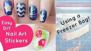 diy simple nail art stickers diy design ideas excellent to nail