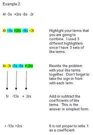 simplifying algebraic expressions ms roy u0027s grade 7 math