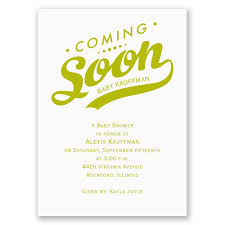 coming soon mini baby shower invitation invitations by dawn