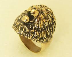 ceramic lion ring holder images Lion head ring etsy jpg