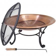 Patio Fire Pit Table Titan 29 U201d Lw Copper Outdoor Fire Pit Table Bowl Backyard Firepit