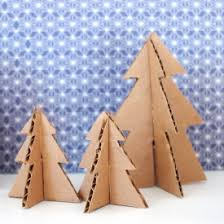 Mini Christmas Tree Crafts - make mini christmas trees from pipe cleaners and cardboard