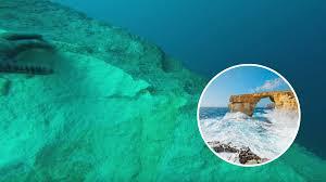watch incredible footage of the azure window underwater lovin malta