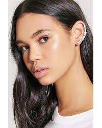ear cuffs aldo aldo trilasa faux pearl ear cuffs in metallic lyst