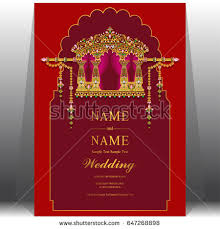 simple indian wedding invitations wedding invitation card templates gold indian stock vector