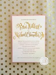 Gold Foil Wedding Invitations Margotmadison Gold Foil Wedding Invitations