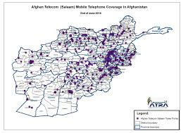 Internet Coverage Map Coverage Footprint Telecom Regulatory Authority Of Afghanistan