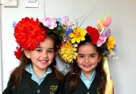 easter bonnets flower hair wreath or easter bonnet mari s world