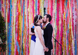 streamer backdrop colourful streamer backdrop diy bespoke wedding