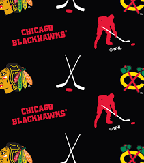 Joann Fabric Nhl Fleece Fabric Chicago Blackhawks Tossed Joann