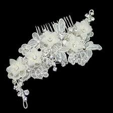 wedding hair combs alencon lace flower comb zaphira bridal