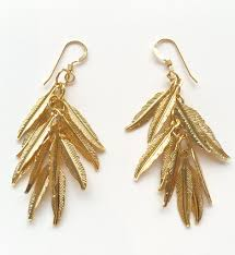 gold feather earrings gold feather earrings irit sorokin designs