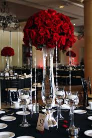 Bling Wedding Decorations For Sale Tall Red Rose Wedding Centerpieces Beautiful Red Rose