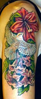 ghostprint gallery tattoos page 1 dove and flower half