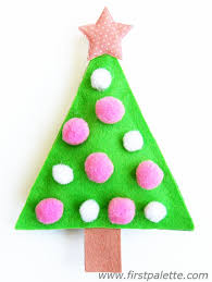 felt christmas tree craft kids u0027 crafts firstpalette com